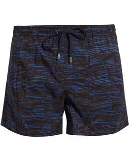 Ripple-print Swim Shorts