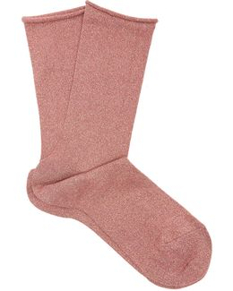 Shiny Ankle Socks