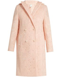 Axelia Cloud-lace Double-breasted Coat