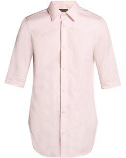 Short-sleeved Slim-fit Shirt