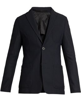 Honeycomb-mesh Patch-pocket Blazer