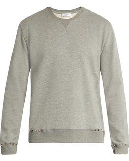 Rockstud-trimmed Jersey Sweatshirt