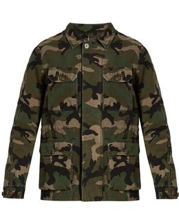 Camouflage-print Cotton Jacket