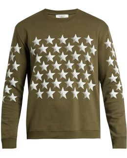 Stars-print Cotton-blend Jersey Sweatshirt