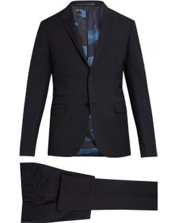 Notch-lapel Wool And Mohair-blend Suit