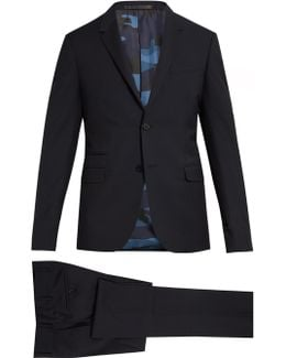 Notch-lapel Wool And Mohair-blend Suit