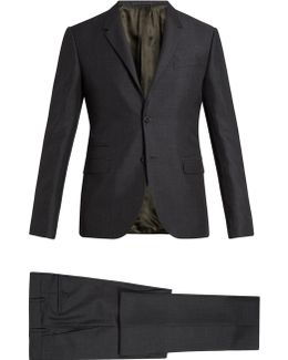 Notch-lapel Mohair And Wool-blend Suit