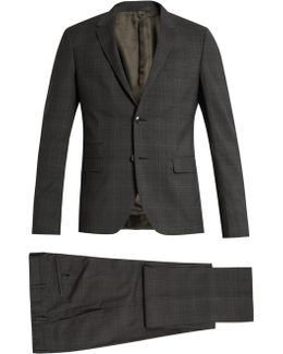Checked Notch-lapel Wool Suit
