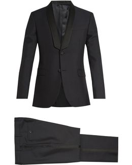 Shawl-collar Wool And Mohair-blend Tuxedo