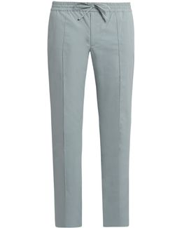 Slim-leg Cotton Track Pants