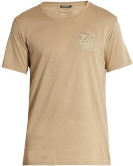 Logo-embroidered Short-sleeved Cotton T-shirt