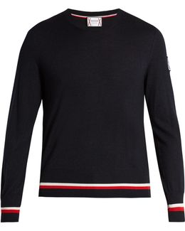 Crew-neck Cashmere-blend Sweater