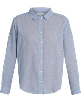 Claire Striped-cotton Shirt