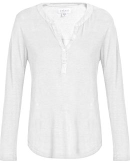 Elvira Linen-blend T-shirt