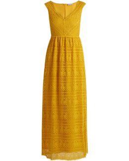 Crocheted Lace Maxi Dress