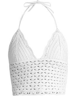 Crochet Halterneck Cropped Top