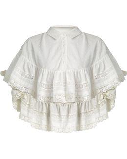 Frill-detail Cotton Blouse