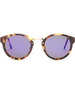 Panama Round-frame Sunglasses