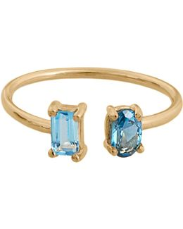 Topaz & Yellow-gold Ring