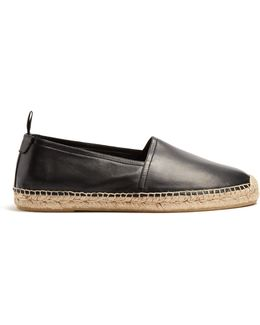 Smooth-leather Espadrilles