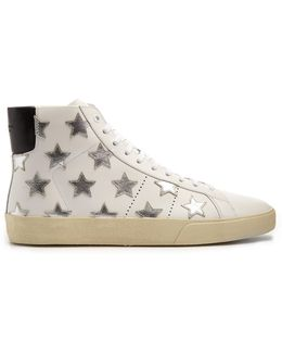 Court Classic High-top Leather Trainers