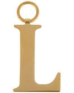 L Gold-plated Charm