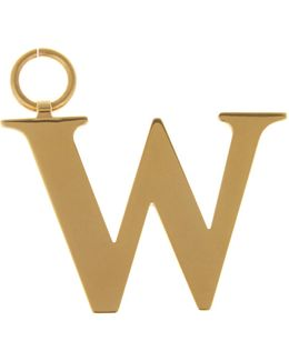 W Gold-plated Charm