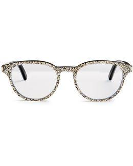 Round-frame Glitter Glasses