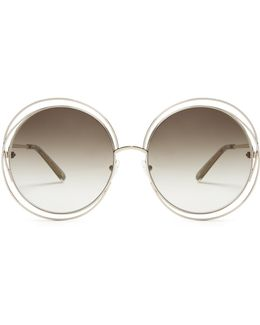Carlina Round-frame Sunglasses
