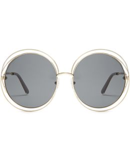 Carlina Round-frame Sunglasses