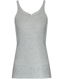 Scoop-neck Cotton Pyjama Tank Top