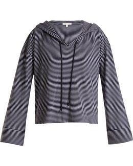 Striped Jersey Hooded Pyjama Top