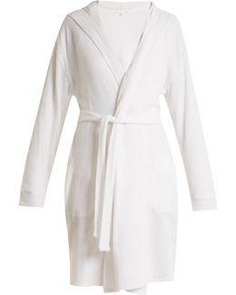 Waffle-cotton Jersey Robe