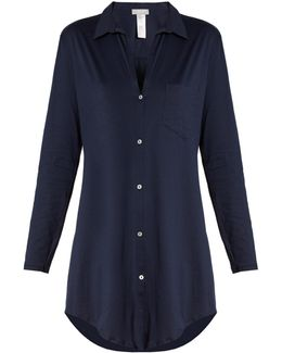 Button-front Cotton Nightdress