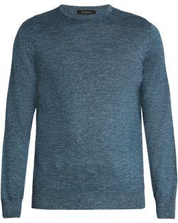 Melange Cashmere-blend Sweater