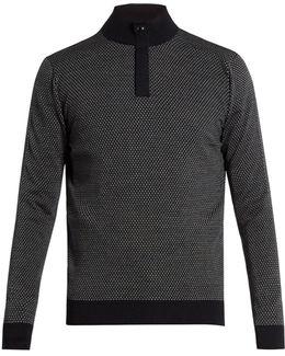 Zip-front Wool Sweater