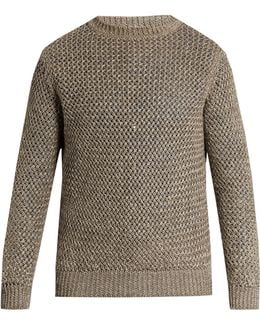 Loose-knit Linen And Cotton-blend Sweater