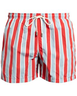 The Classic Monaco Stripe-print Swim Shorts