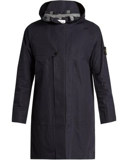 Logo-patch Cotton Hooded Coat