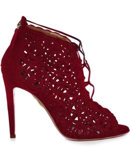Kya Macramé-lace And Suede Sandals