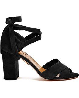 Tarzan Suede Block-heel Sandals