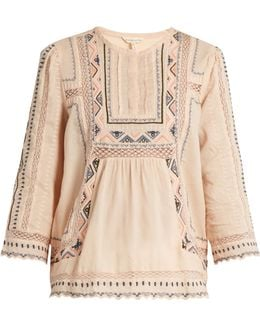 Esme Embroidered Cotton Blouse