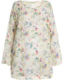 Ashanti Floral-print Cotton Kaftan