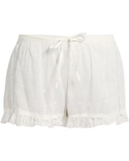 Olbia Ruffle-trimmed Cotton Shorts