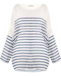 Mattei Striped Cotton-gauze Kaftan