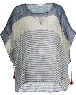 Werner Striped Cotton-gauze Kaftan