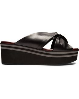 Pally Leather Flatform Sandals