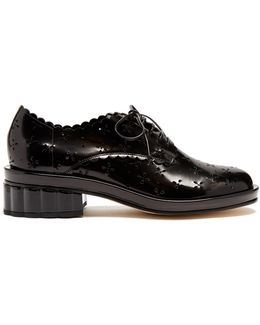 Broderie-anglaise Cut-out Leather Brogues