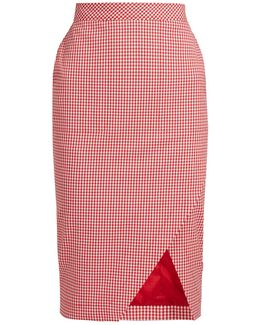 Wilcox Stretch-cotton Pencil Skirt