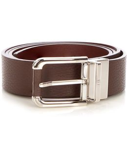 Classic Avorities Grained-leather Belt